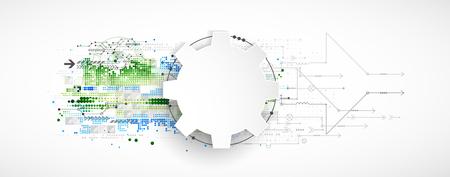 Abstrakte technologischen Hintergrund. Strukturmuster. Vektor