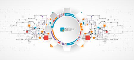 Fondo abstracto, tema de la tecnología para su negocio. Vector