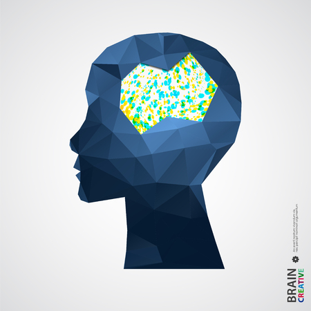 human head: Creative concept of the human head. Vector illustration