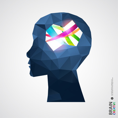Creative concept of the human head. Vector illustration