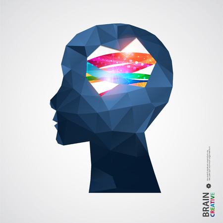 Creative concept of the human head. Vector illustration