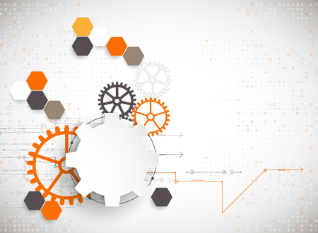 engineering and technology: Vector illustration, Hi-tech digital technology and engineering theme