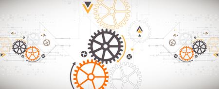 scientific: Vector illustration, Hi-tech digital technology and engineering theme