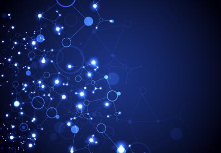Abstract vettore sfondo geometrico. La tecnologia Circle o concetto di scienza. Vettoriali