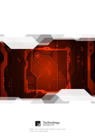 engineering and technology: Hi-tech digital technology and engineering background. Vector