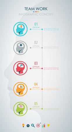 teamwork concept: Info graphic teamwork. Business concept. Vector