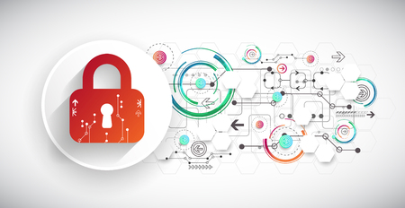 decrypt: Protection background. Technology security, encode and decrypt, techno scheme