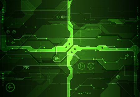 electronic circuit: Abstract green digital communication technology background. Vector illustration