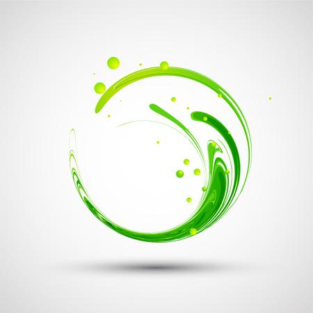 추상 녹색 물결입니다. 벡터 일러스트