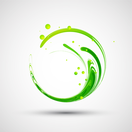 Abstract green wave. Vector Vettoriali
