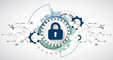 Protection concept. Protect mechanism, system privacy. Vector illustration 免版税图像 - 81387631