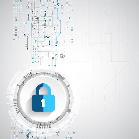 保護の概念。機構、システムのプライバシーを保護します。ベクトル図
