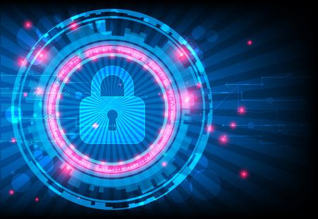 concepto de protección. Proteger mecanismo, la privacidad del sistema. ilustración vectorial Ilustración de vector