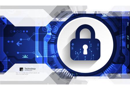 Schutzkonzept Schutzmechanismus, Privatsphäre des Systems. Vektor-Illustration