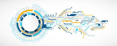 Ilustración de vector, tecnología digital de alta tecnología y tema de ingeniería Ilustración de vector