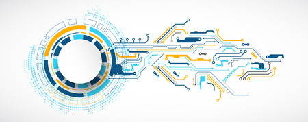 Vektor-Illustration, Hi-Tech-Digital-Technologie und Engineering-Thema Vektorgrafik