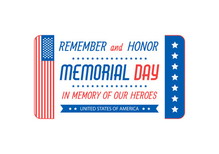 Happy Memorial Day. Greeting card. Vector illustration Vectores