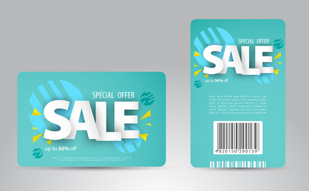 Sale card template design for your business. Vector illustration. 向量圖像