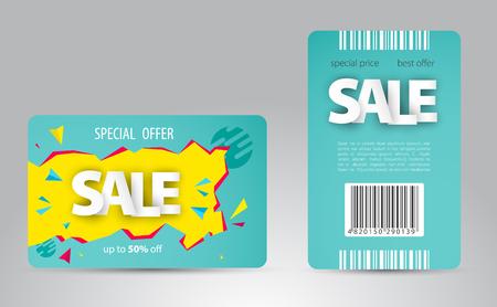 Sale card template design for your business. Vector illustration. Illustration
