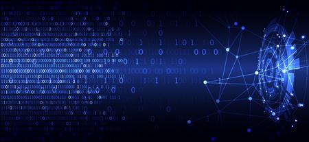 Concepto de tecnología de círculo abstracto. Placa de circuito, fondo de color de computadora alta. Ilustración vectorial