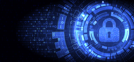 Concepto de protección. Proteger el mecanismo, la privacidad del sistema. Ilustración vectorial