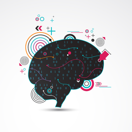 Abstract creative  brain concept. Vector Illustration