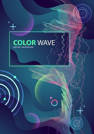 Colorful geometric background design. Wave composition. Vector. Illustration