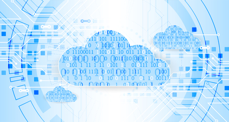 Web cloud technology business abstract background. Vector Illustration