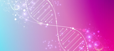 Bright scientific background. A creative idea for your business concept. DNA style. Illustration