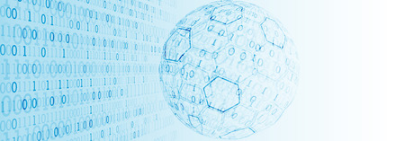 Abstract technology half -  sphere background. Global network concept.