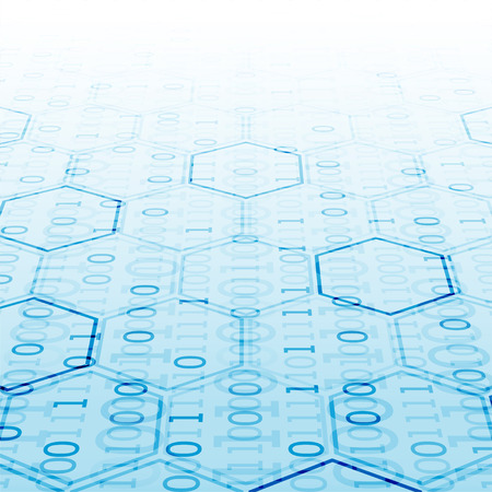 Abstract  technology hexagonal background. Connection structure. Science style.