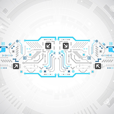 Abstract technology circuit board. Communication concept Illustration
