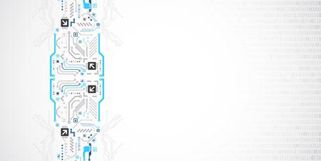 Circuit imprimé de technologie abstraite. Concept de communication