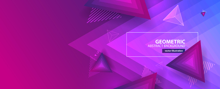 Abstract colorful geometric background. Vector illustration Illustration