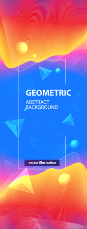 Abstract colorful geometric wave background. Vector illustration Illustration