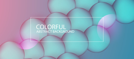 Abstract colorful circle background. Vector illustration