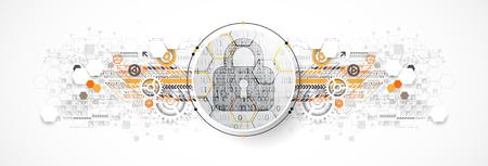 Protection mechanism, system privacy (GDPR). Vector illustration Vecteurs