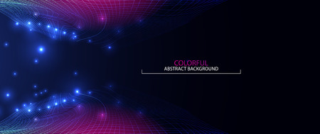Wave abstract colorful background. 3d grid. Big data. Futuristic  vector illustration