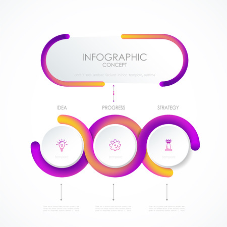 Vector infographic template. Business concept with options.Vector illustration.