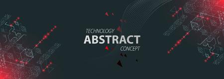 Contexte technologique. Code informatique binaire. Illustration vectorielle.