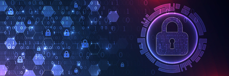Secure digital space. Virtual confidential, programming protection. Illustration