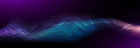 Music background. Sound waves equalizer vector concept.