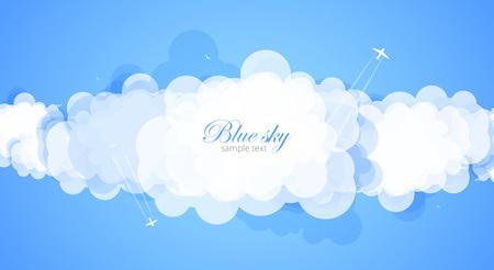 Cielo azul con nubes.