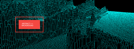 Square pattern. Wireframe landscape