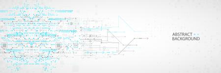 Abstraktes technologisches mit verschiedenen Elementen. Hintergrund der Strukturmustertechnologie.