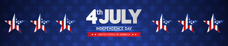 Fourth of July Independence Day. Иллюстрация