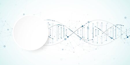 Science template, wallpaper or banner with a DNA molecules. Vector illustration Vektorové ilustrace