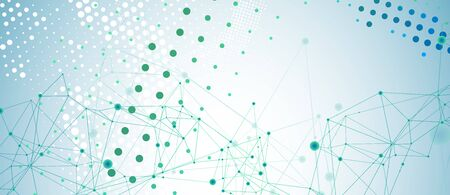 Abstract polygonal vector background with connecting dots and lines. Digital data visualization.