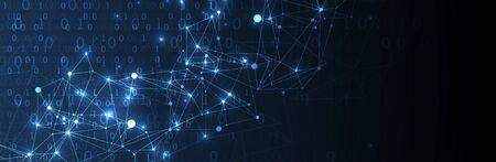 Technology background. Big data concept. Vector illustration.
