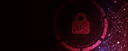 Secure digital space. Virtual confidential, programming protection. Ilustracja